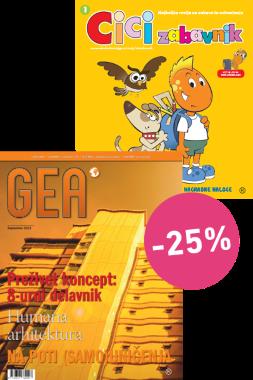 KOMPLET REVIJ GEA + CICI ZABAVNIK